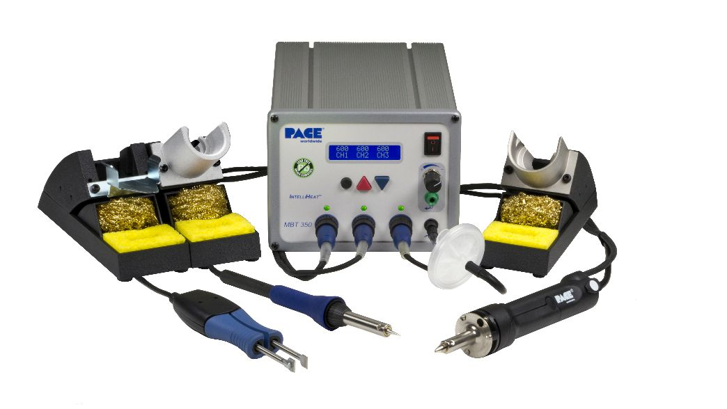 MBT350 Multi-Channel Solder, Desolder & Rework System with PS-90, MT-100, & SX-100, 230V