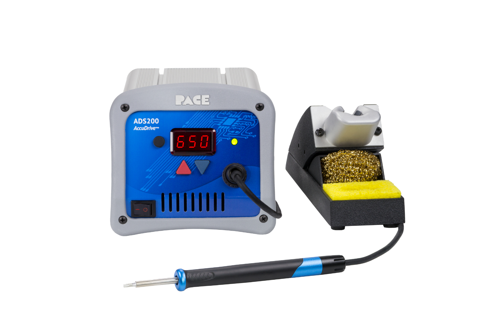 ADS200 AccuDrive® Production Soldering Station with TD-200 Tip-Heater Cartridge Iron & Instant SetBack Tool Stand, 230v